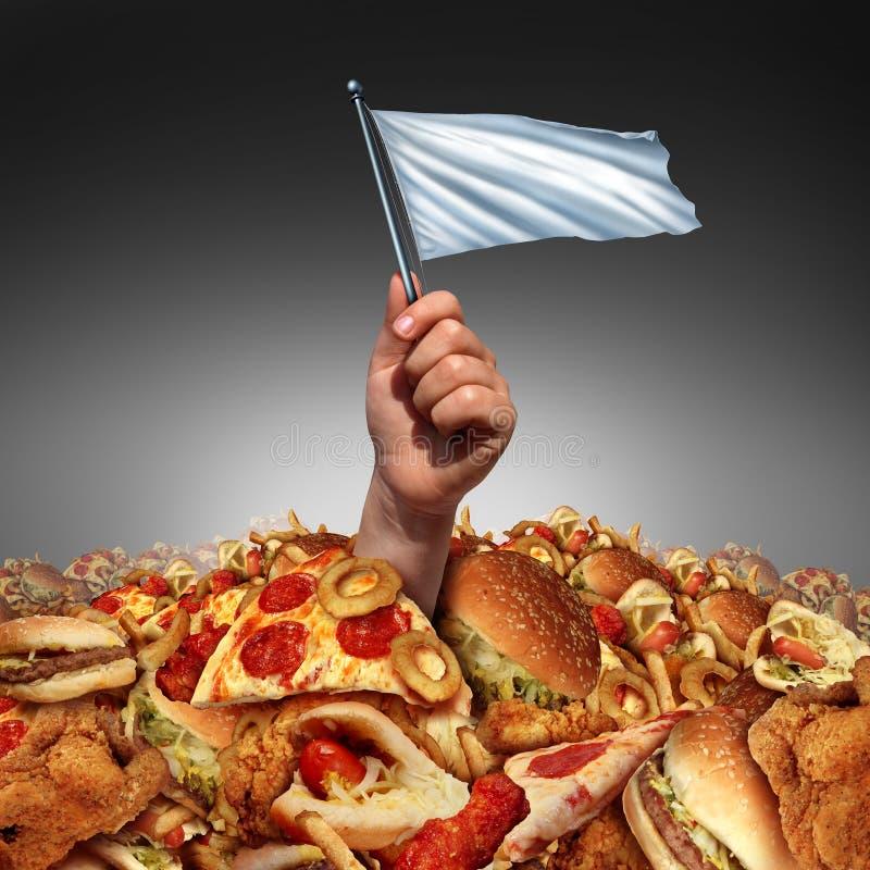 Rendição da comida lixo ilustração do vetor