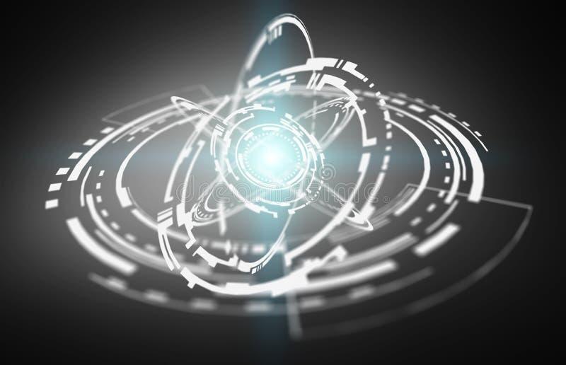 Rendição da relação 3D da conexão de rede do voo ilustração do vetor
