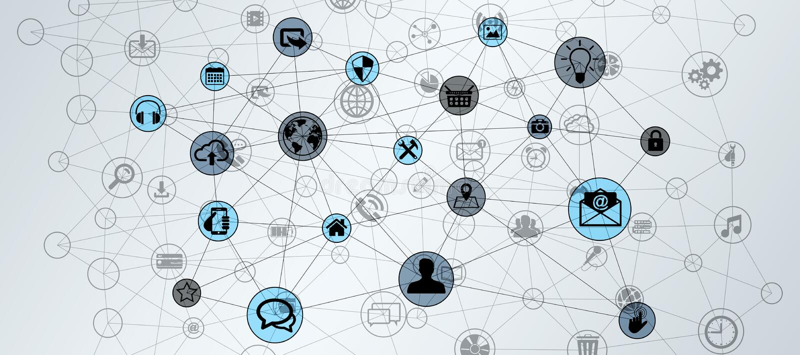 Rendição da Web 3D dos dados de conexão da tecnologia do círculo ilustração do vetor