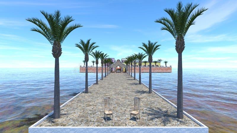 rendição de 3D CG da área de recurso ilustração do vetor