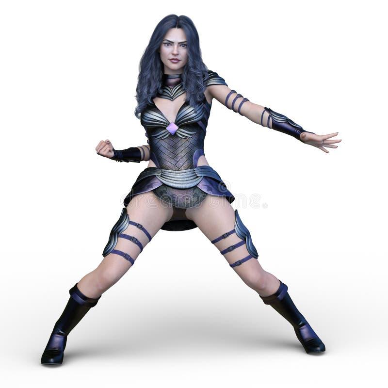 rendição de 3D CG da heroína ilustração royalty free