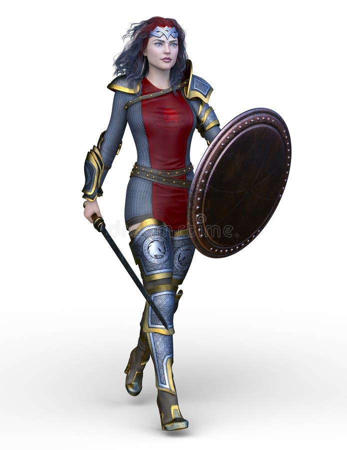 rendição de 3D CG da heroína ilustração stock