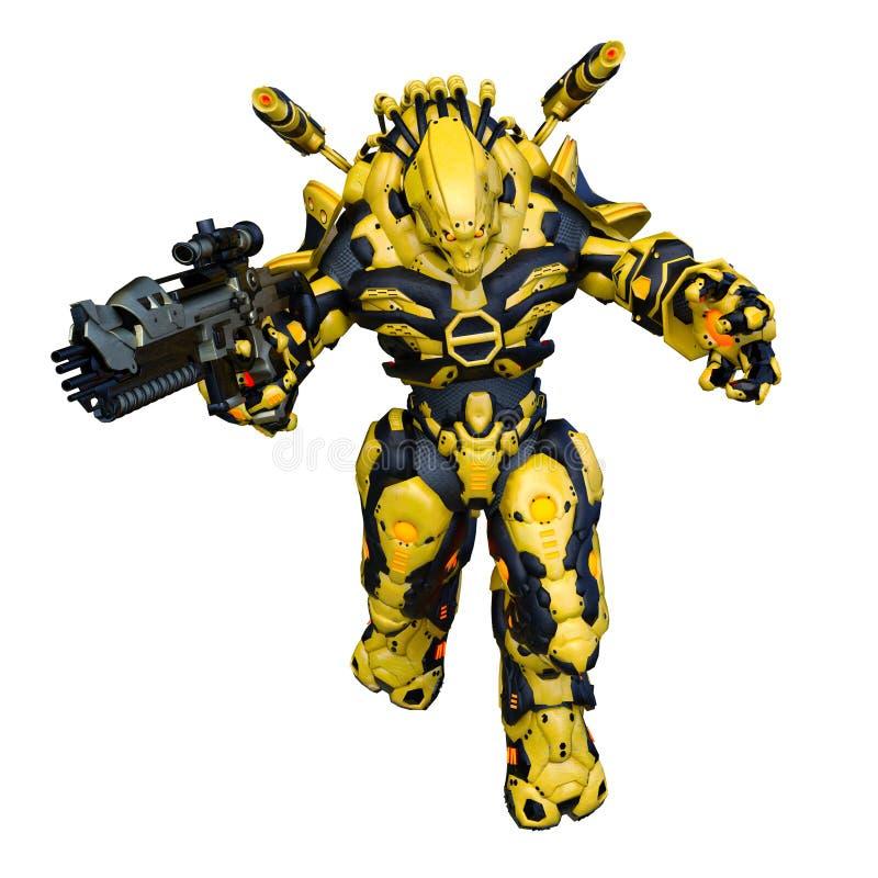 rendição de 3D CG do Humanoid ilustração royalty free