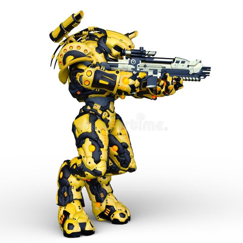 rendição de 3D CG do Humanoid ilustração do vetor