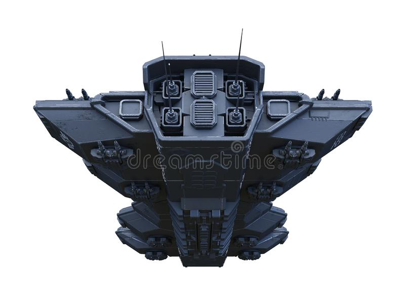 rendição de 3D CG do navio de espaço ilustração stock