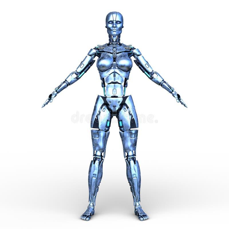 rendição de 3D CG do robô ilustração royalty free