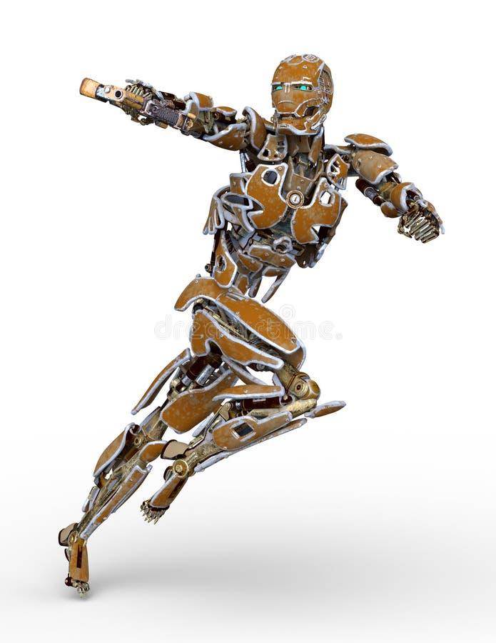 rendição de 3D CG do robô ilustração stock
