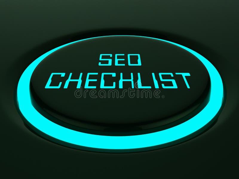 Rendição de Seo Checklist Web Site Report 3d ilustração royalty free