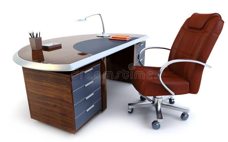 Rendição do escritório 3d do diretor ilustração stock