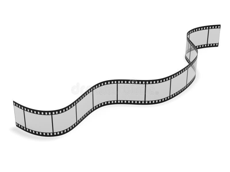 Rendição do filme de cinematografia 3d ilustração stock