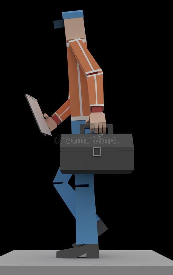 Rendição do recruta 3d ilustração do vetor