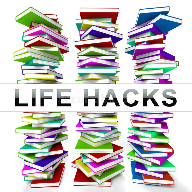 Rendição eficiente mais esperta secreta dos cortes 3d de Lifehack ilustração stock