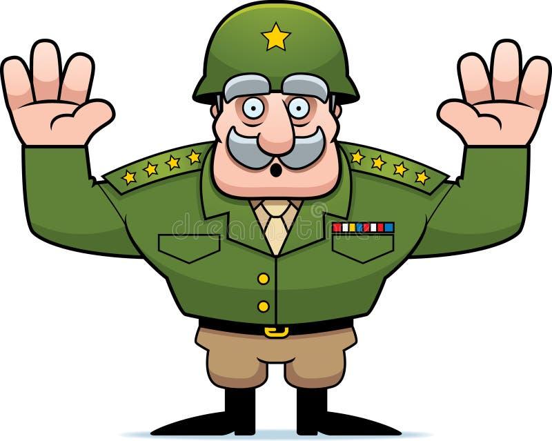Rendição geral militar dos desenhos animados ilustração royalty free