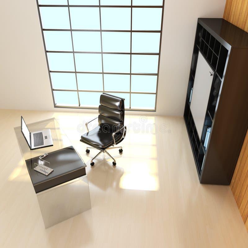 rendição interna do escritório 3D fotos de stock royalty free