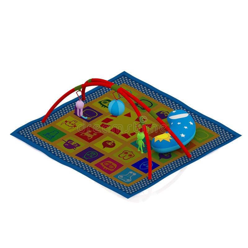 Rendição isométrica do objeto 3D da criança foto de stock royalty free
