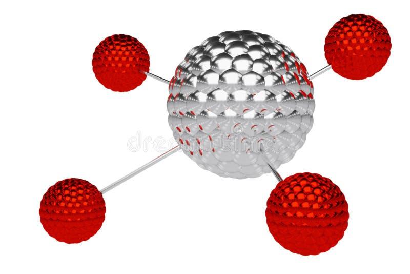 Rendi??o 3d abstrata da baixa esfera poli do metal com estrutura ca?tica Fundo da fic??o cient?fica com wireframe e globo no espa ilustração stock