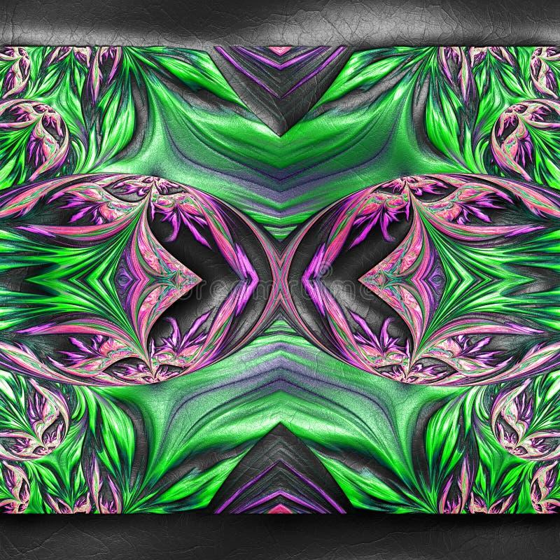 rendi??o 3D do fractal pl?stico no couro ilustração do vetor