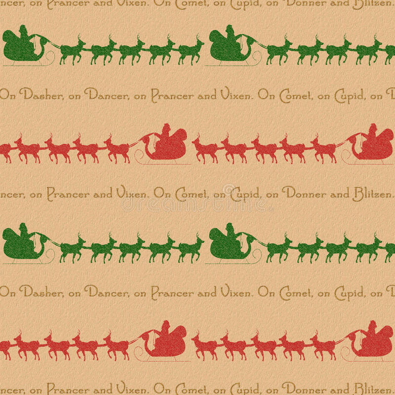 Rendier het achtergrond van de Kerstman vector illustratie