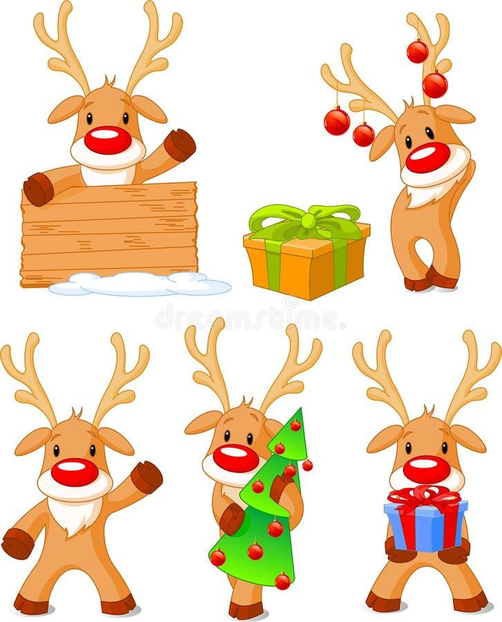 Rendier Rudolph stock illustratie
