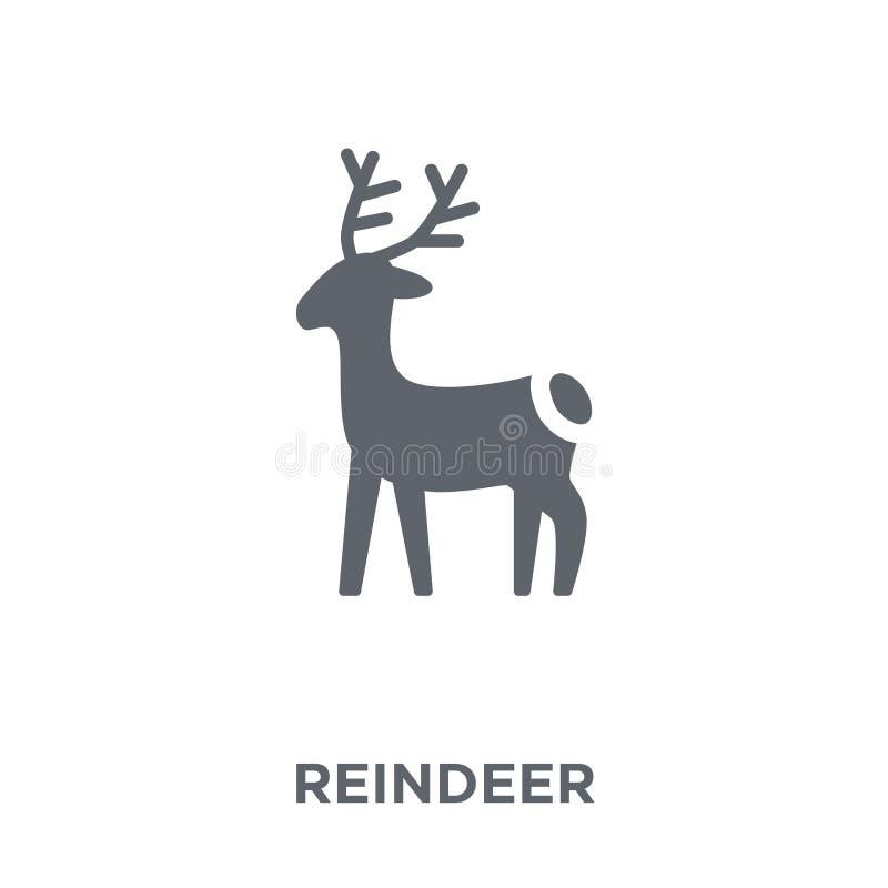 Rendierpictogram van Kerstmisinzameling royalty-vrije illustratie
