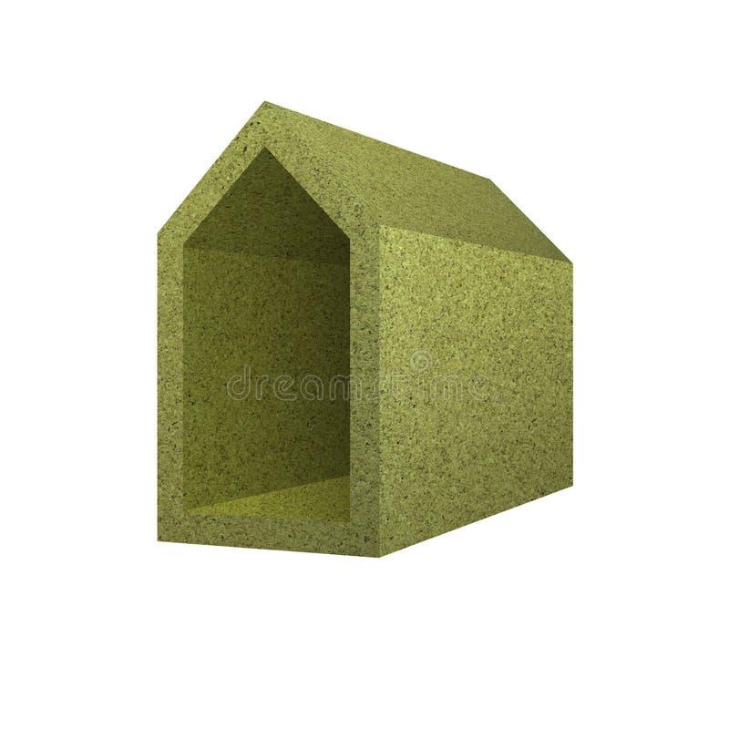 Rendimiento energético: concepto casero aislado termalmente imagen de archivo