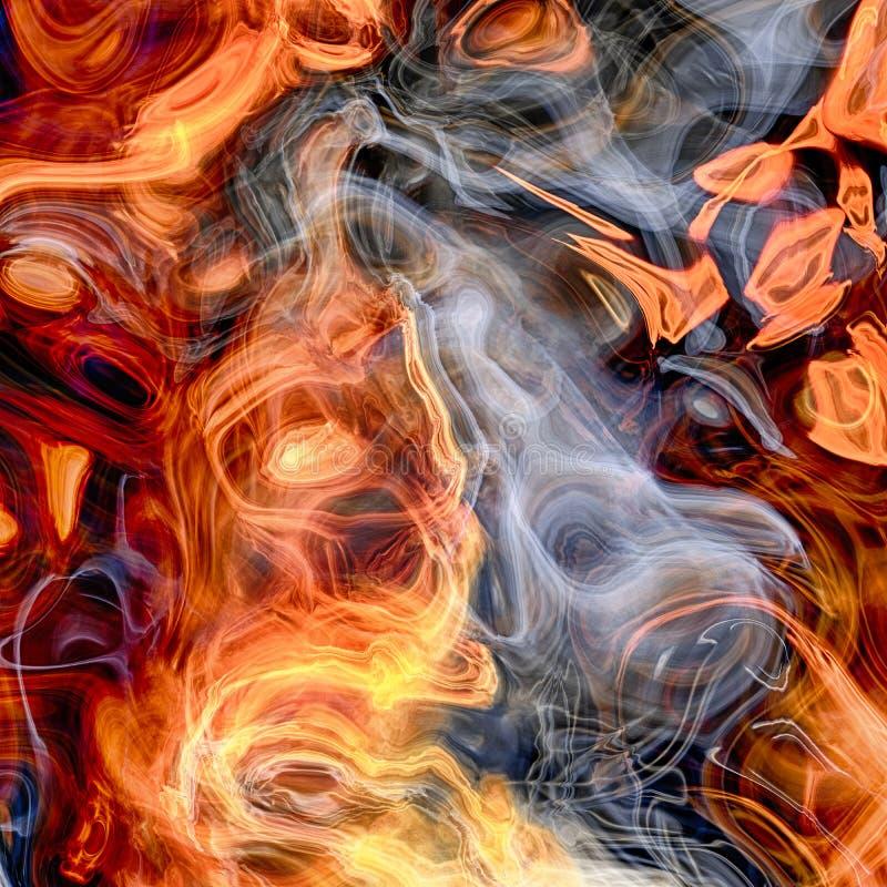 Rendiring detalhado do fractal da chama para a arte, a ilustra??o e o projeto ilustração stock