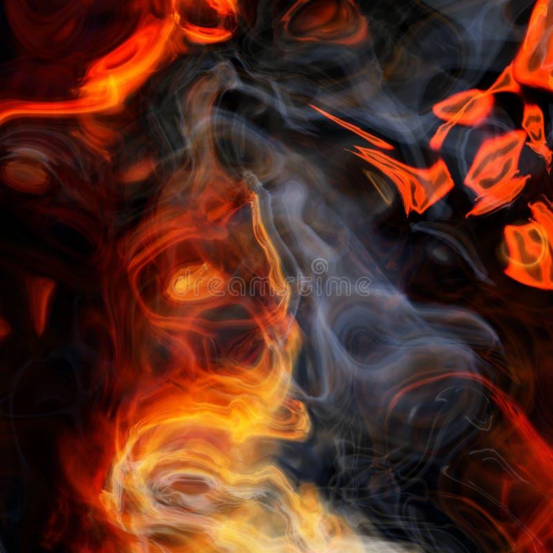 Rendiring detalhado do fractal da chama para a arte, a ilustra??o e o projeto ilustração royalty free