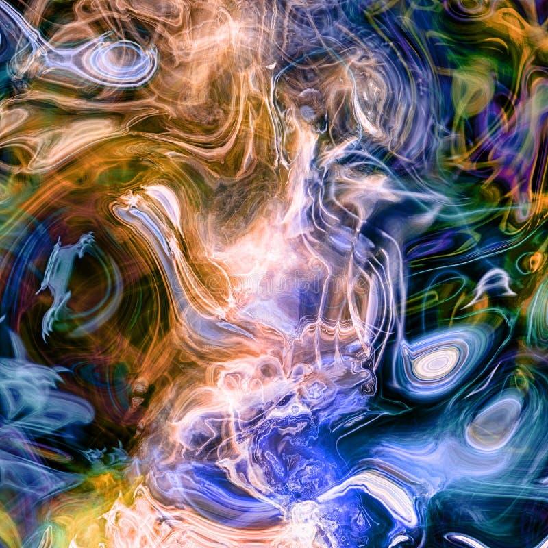 Rendiring detalhado do fractal da chama para a arte, a ilustra??o e o projeto ilustração do vetor