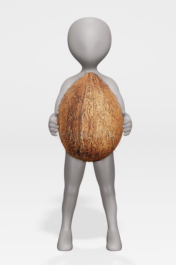 Renditore di fumetti con Coconut illustrazione vettoriale