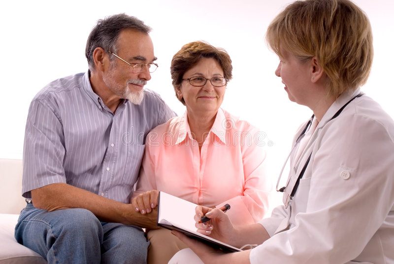 Rendre visite à un docteur images stock
