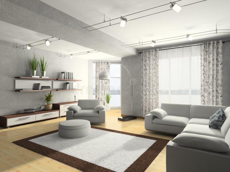 Rendu à la maison de l'intérieur 3D illustration libre de droits