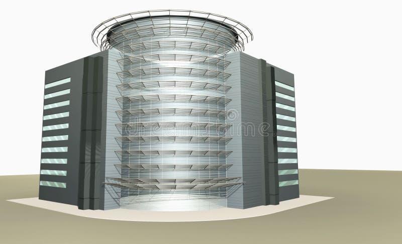 rendu 3D de la construction moderne illustration de vecteur