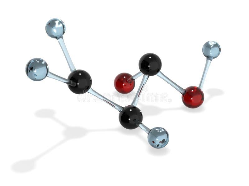 Rendu acrylique de la molécule 3d illustration libre de droits
