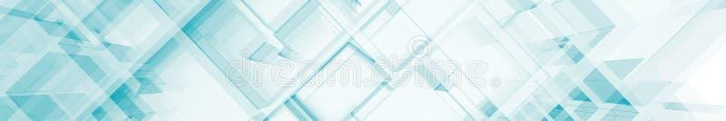 Rendu bleu abstrait de l'architecture 3d illustration de vecteur