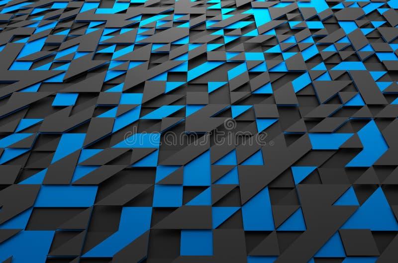 Rendu 3d abstrait de la surface futuriste avec illustration libre de droits