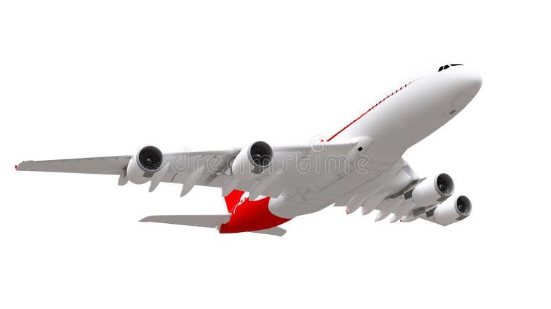 rendu 3d Avion d'isolement sur le fond blanc illustration stock