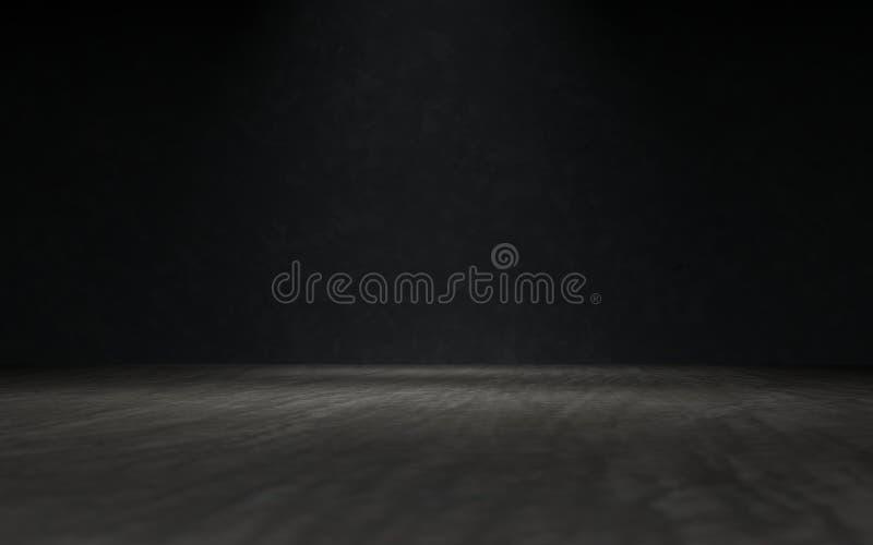 Rendu 3D blanc de fond de projecteur d'étalage de produit illustration libre de droits