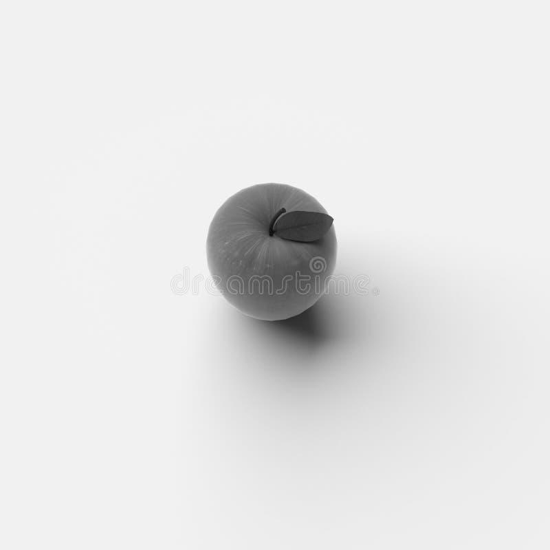 RENDU 3D d'APPLE illustration libre de droits