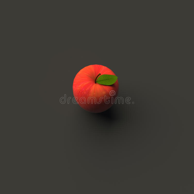 RENDU 3D d'APPLE illustration stock