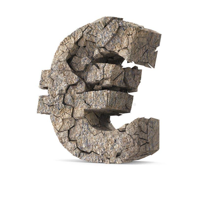 Euro criqué illustration libre de droits