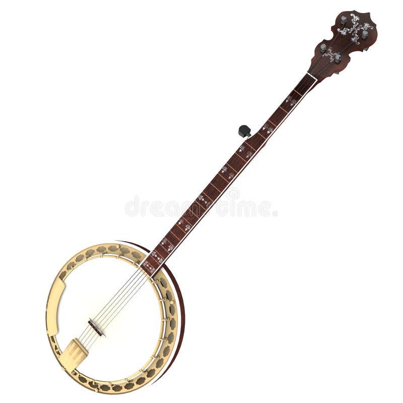 rendu 3d d'un banjo illustration de vecteur