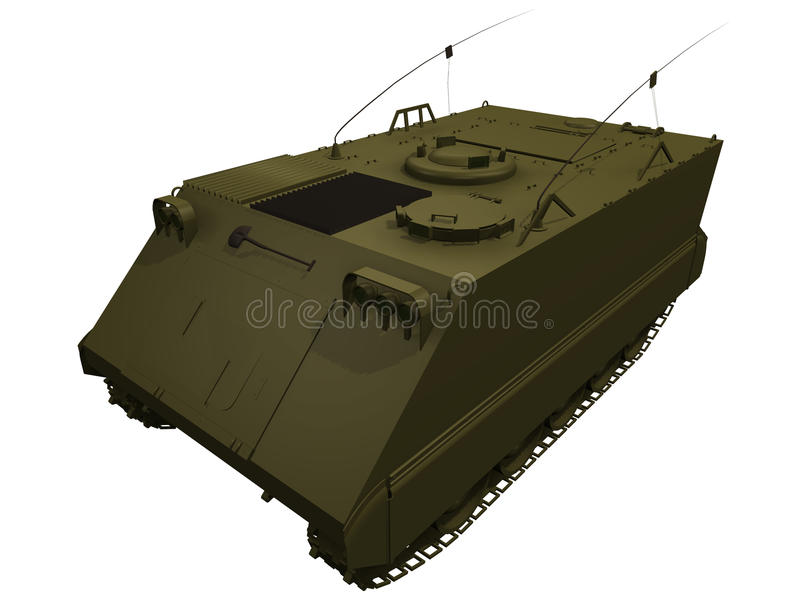 rendu 3d d'un M113 RPA illustration stock