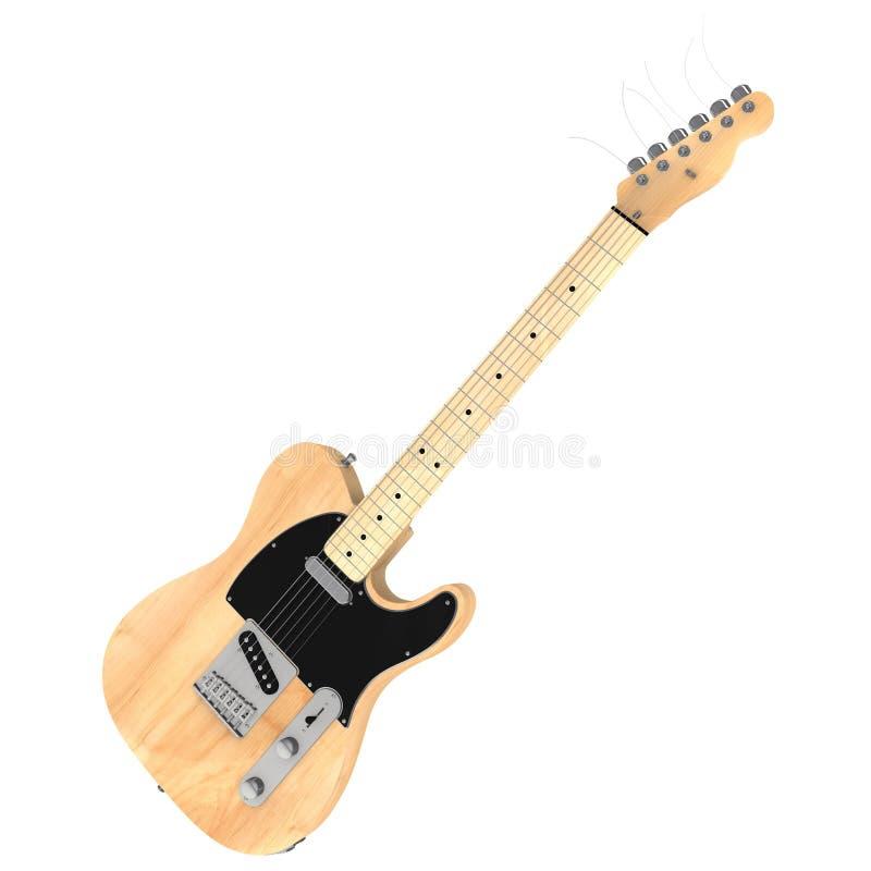 rendu 3d d'une guitare électrique illustration stock