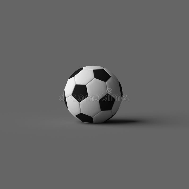 RENDU 3D de BALLON DE FOOTBALL illustration libre de droits
