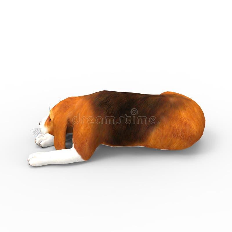 rendu 3d de chien créé à l'aide d'un outil de mélangeur illustration de vecteur