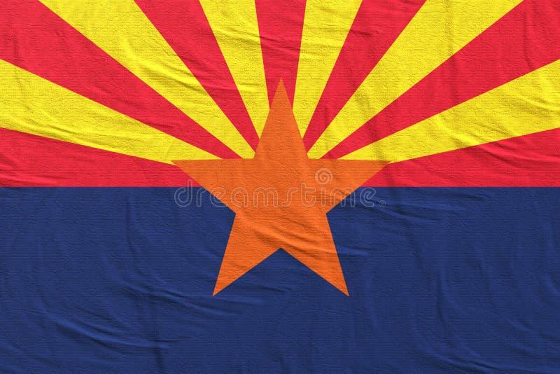 rendu 3d de drapeau d'?tat de l'Arizona illustration libre de droits