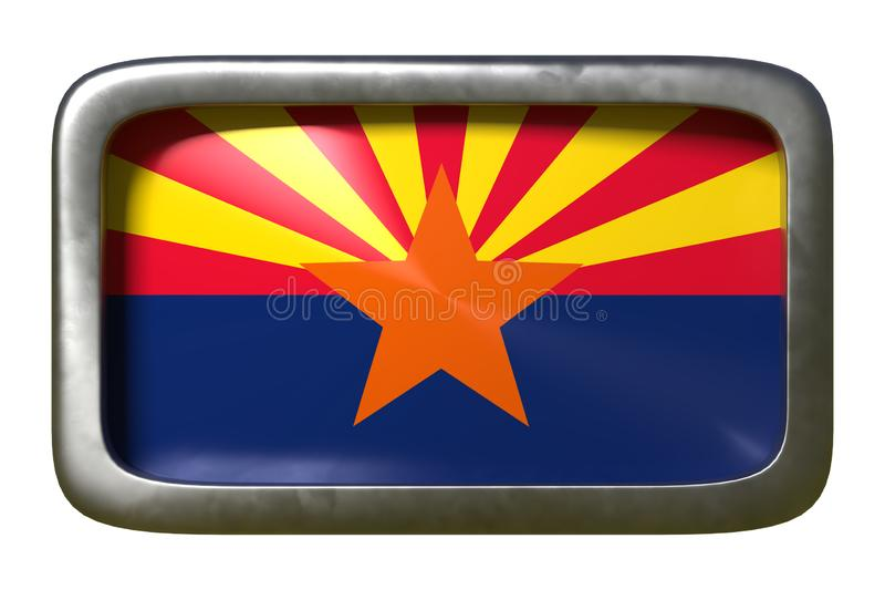rendu 3d de drapeau d'?tat de l'Arizona illustration libre de droits