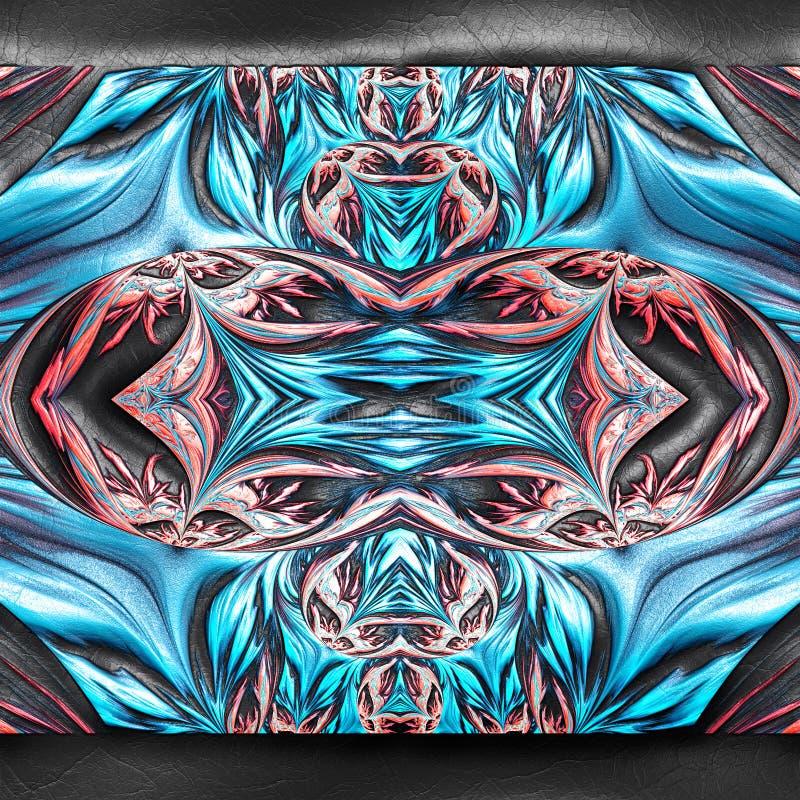 rendu 3D de fractale en plastique sur le cuir illustration de vecteur
