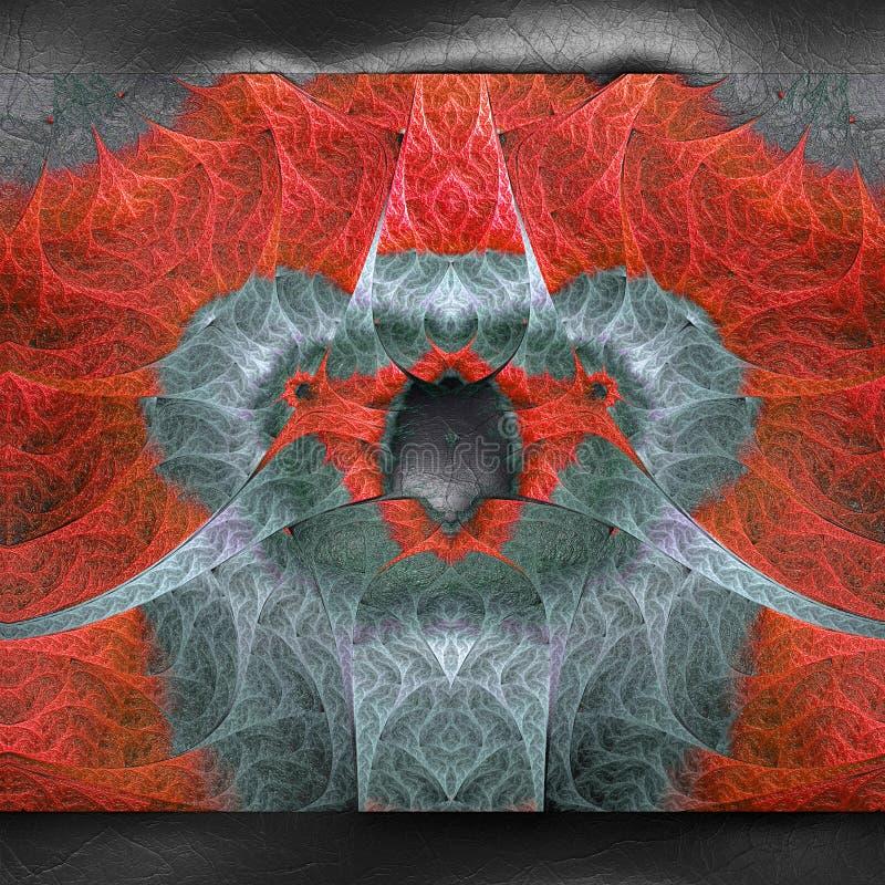 rendu 3D de fractale en plastique sur le cuir illustration libre de droits