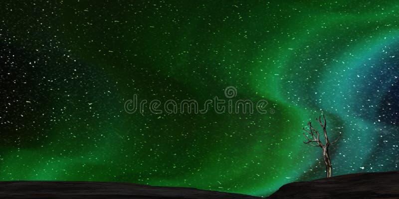 rendu 3d de l'aurore gentille avec le début clair derrière lui illustration de vecteur